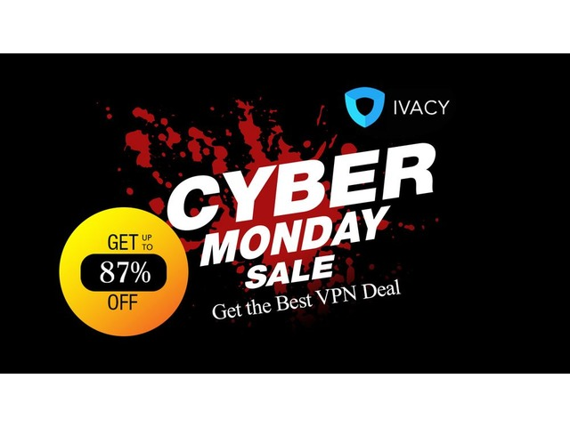 CyberMondayVPNDeal2018-IvacyVPNforJust$1 34/Month