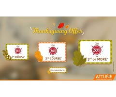 Limited time offer - Thanksgiving Offer on Online Training for all courses