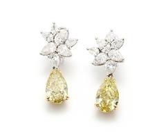 Fancy Colored Diamond Earrings Jewelry Online at Asteria Diamonds