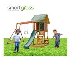 Affordable fake grass for playground USA