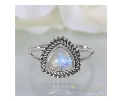 Moonstone Ring Prism Light - GSJ