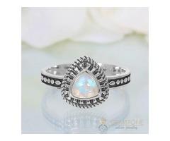Moonstone Ring Triple Grandeur - GSJ