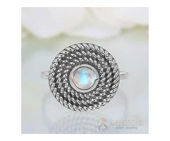 Moonstone Ring Harmonious Devotion - GSJ