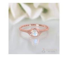 14K Rose Gold Moonstone Rings Novella - GSJ