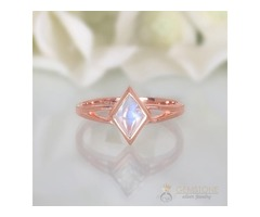 14K Rose Gold Moonstone Ring Tilda - GSJ