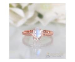 14K Rose Gold Moonstone Ring Vivacity - GSJ