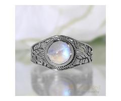 Moonstone Rings Glistening Petal - GSJ
