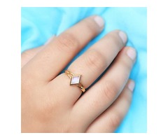 14k Yellow Gold Vermeil Moonstone Ring Tilda - GSJ