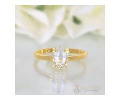 14k Yellow Gold Vermeil Moonstone Ring Vivacity - GSJ