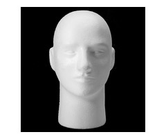Wig Hat Holder Glasses Foam Mannequin Styrofoam Male Head Stand Model