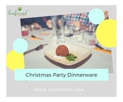 Christmas Party Dinnerware Set - 100 Pcs