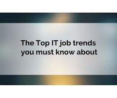 The Top IT job trends you must know about
