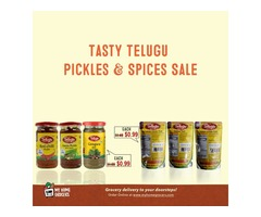 Tasty Telugu Pickles & Spices Sale Online Plano,Texas - MyHomeGrocers