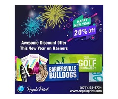 Awesome New Years discount offer of 20% on Banners