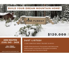 This appealing level wooded lot is ready for you to build your dream mountain home!