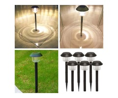 Solar path lights outdoor, solar stake lights, solar stakes