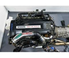 JDM Nissan Skyline R33 GTR Rb26det Engine with Twin Turbo, Harness, Ecu