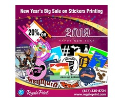 20% New Year's Discount on Stickers Printing by RegaloPrint