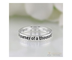 Sterling Silver ring promise signet - GSJ