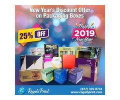 Cheers to New Year with Discount of 25% on Packaging Boxes