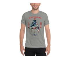 Merry Christmas to America with Christmas Tree
