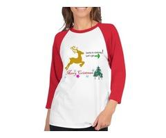 Merry Christmas Santa 3/4 sleeve raglan shirt