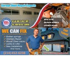 Local 1 Hrs Garage Door Spring Repair ($25.95) Frisco, TX – Start $25.95