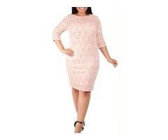 Elegant Rose Lace Dress To Brighten Up Your Day