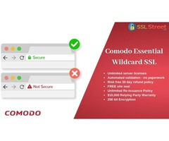 Comodo Essential Wildcard SSL Certificate With Highest Encryption