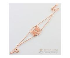 14kt Rose gold lotus good karma chakra bracelets