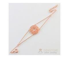 14kt Rose gold heart chakra bracelet