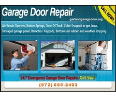 24/7 Residential Garage Door Spring Repair ($25.95) Garland, 75041 TX