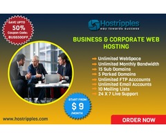 $9 Business Website Hosting and Corporate Web Hosting at Hostripples
