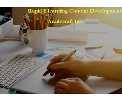 Rapid e-learning content development Services Provider in USA