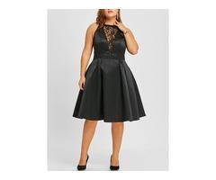 Tidebuy Back Zipper Plus Size Sleeveless Womens Day Dress