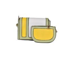 Chic Color Block Women Bag Set (Two Bags Set)