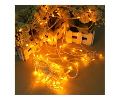 100 LED 10m Yellow String Decoration Light For Christmas 110V 220V