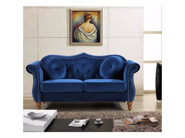 BRIDGES CLASSIC NAILHEAD CHESTERFIELD LOVESEAT• FURNITURE COAST TO COAST | free-classifieds-usa.com
