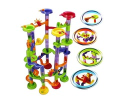 58Pcs DIY Run Race Construction Child Building Blocks Toys Development Toys Christmas Gifts