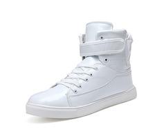 PU Velcro Plain Mid-Cut Upper Mens Sneakers