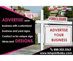 Yard sign design