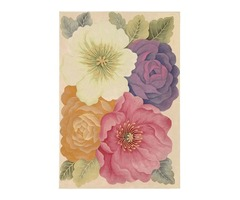 Round Floral Area Rugs | ShoppyPal