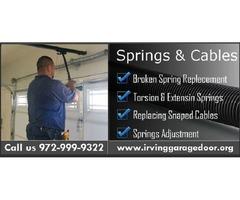 Broken Garage Door Spring Replacement and Repair Services ($25.95) Irving, TX