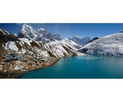 Most popular trekking route in Nepal with Sherpa culture and lifestyle in Gokyo Valley