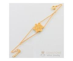 14k Gold Moonstone & coexist in harmony chakra bracelet