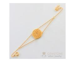 14k Gold Moonstone Bracelet & crown chakra bracelet