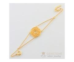 14k Gold Moonstone Bracelet & heart chakra bracelet