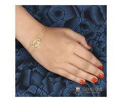 14k Gold Moonstone Bracelet & brow chakra bracelet