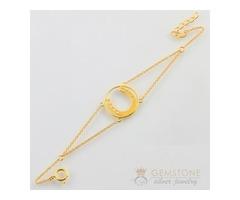 14k Gold Moonstone Bracelet & horseshoe good karma chakra bracelet