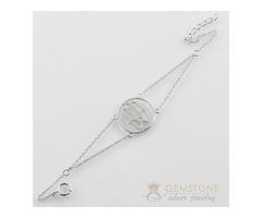 Silver Moonstone Bracelet & hand of fatima good karma chakra bracelet